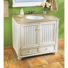 Sunny Wood Bristol Beach White 36 In. W x 34 In. H x 21 In. D Vanity Base, 2 Door/2 Drawer Image 3
