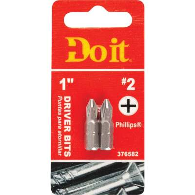 Do it #2 Phillips 1 In. Insert Screwdriver Bit (2-Pack)