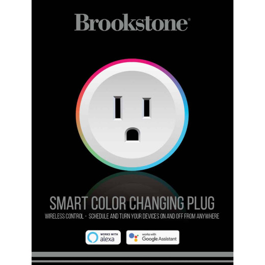 Brookstone 10A Single Color Changing Smart Plug