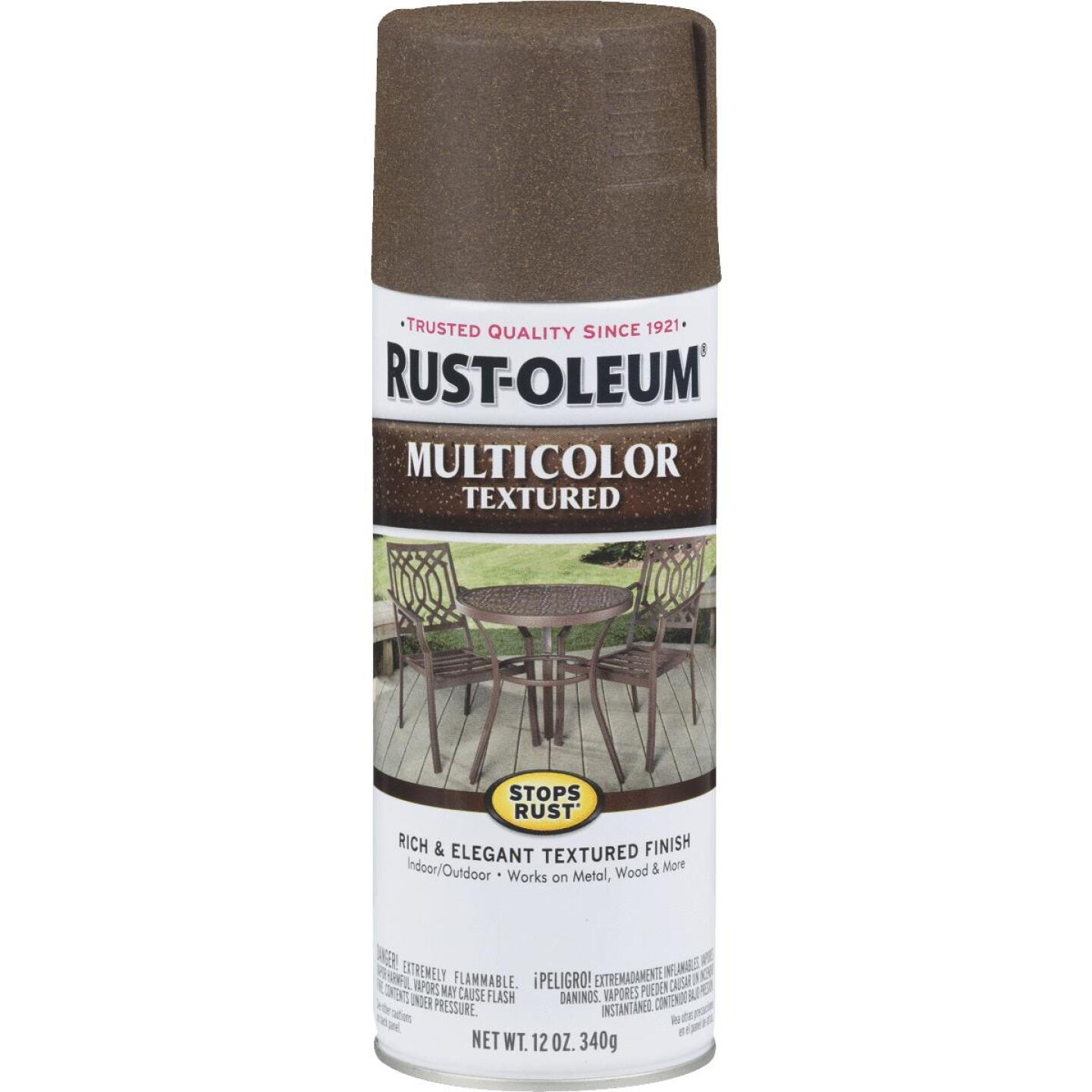 Rust-Oleum Stops Rust MultiColor 12 Oz. Textured Spray Paint, Autumn Brown Image 1