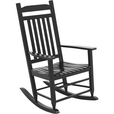 Knollwood Black Wood Mission Rocking Chair